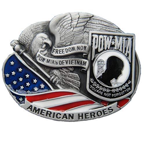American Heroes POW*MIA Freedom Now POW*MIA's of Vietnam Belt Buckle BU264 ()