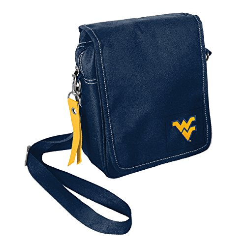 Littlearth NCAA West Virginia Mountaineers Ribbon Satchel Purse (West Virginia Mountaineers Ribbon)