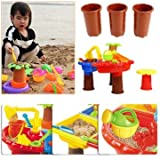 Sandpaper Performing Miniature - 22pcs Set Kid Beach Toy Sand Playing Water Too Kit - Backbone Gumption Playful Diddle Dog Gut Acting Fiddle Grit Playacting