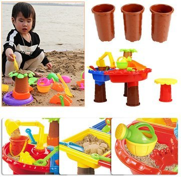 Sandpaper Performing Miniature - 22pcs Set Kid Beach Toy Sand Playing Water Too Kit - Backbone Gumption Playful Diddle Dog Gut Acting Fiddle Grit Playacting by Unknown