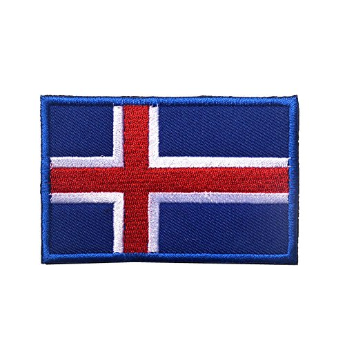 iceland flag embroidered patch icelandic