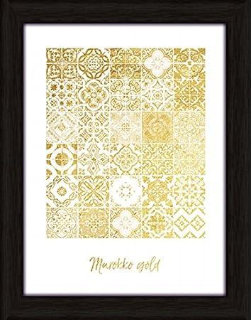 Artland Wand Bild Poster Kunstdruck Mit Rahmen Jule Marokko Gold