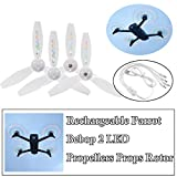 Parrot Bebop 2 Propellers Props,STARTRC 4PCS Rechargeable LED Flash Propeller Rotor with 5 Colors Compatible Parrot Bebop 2 Drone White Blades