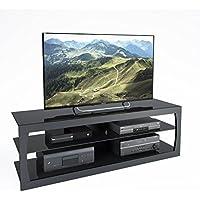 CorLiving TSL-303-T Santa Lana TV Stand, Black Matte