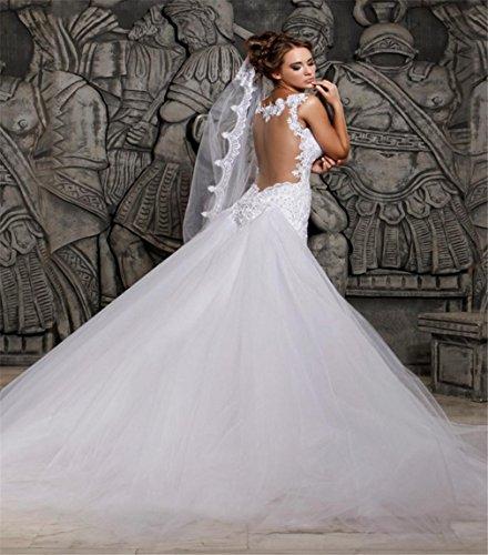 Vestido Formal De Capilla Decoración Banquete Lucky Sirena u Boda Novia Elegante T5qqCSw