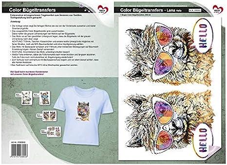 DIN A4 Textilien mit B/ügelmotiven verzieren Rose Bastelspr/üche DIY Textildesign Bilder schnell /& einfach aufb/ügeln Color B/ügeltransfers