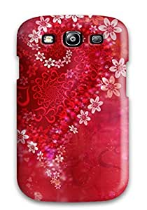 Quality CaseyKBrown Case Cover With Love Heart Flowers Nice Appearance Compatible With Galaxy S3