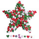 Sumind 80 g Wooden Buttons Christmas Mixed Size Sewing Button DIY Craft Decoration, Mixed Color