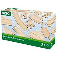 Brio Expansion Pack Juego de tren de riel de madera intermedio - Hecho con madera de haya europea