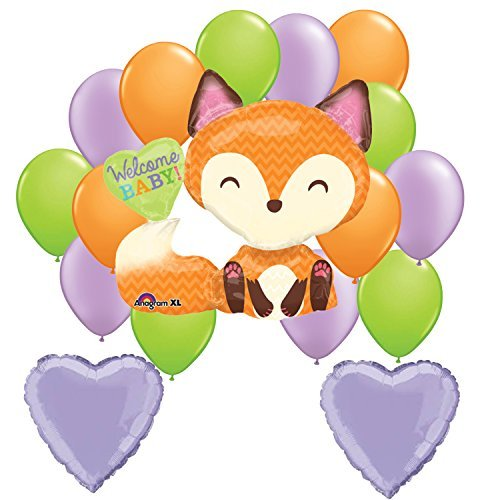Kits S Puppet - Welcome Baby Woodland Fox Balloon Decoration Kit