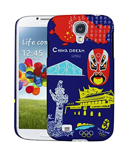 Heartly World Series Printed Design Hard Bumper Back Case Cover for Samsung Galaxy S4 i9500   China Dark Blue