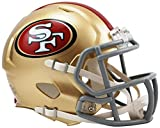 football 49ers helmet - Riddell Revolution Speed Mini Helmet - San Francisco 49Ers
