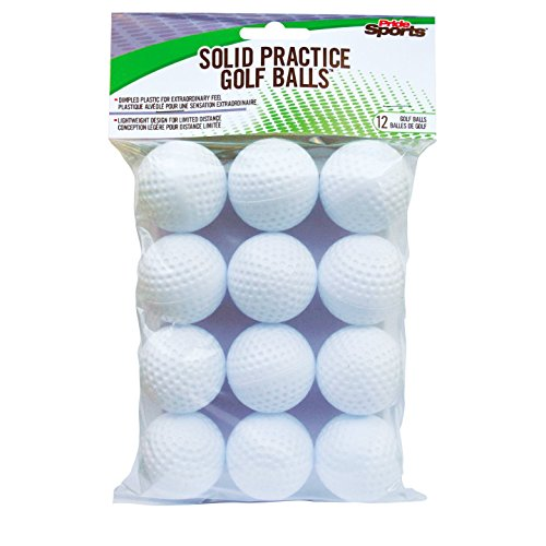 PrideSports Practice Golf Balls, Hollow, 12 Count