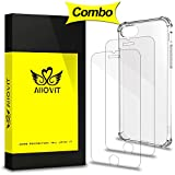 iPhone 7 Screen Protector & Case Combo, Allovit 2-Pack Tempered Glass Screen Protector and Crystal Clear Case, Dual Layer Protection Cover for iPhone 7 4.7