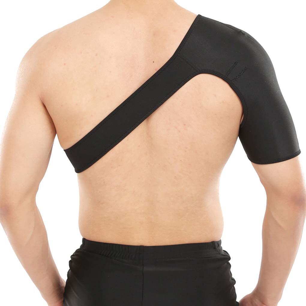 Demino Support d/épaule r/églable Brace Sport Gym Croisillon Articulation de l/épaule Compression Seule /épaule Sangle de Maintien au Chaud Joint Droit Noir
