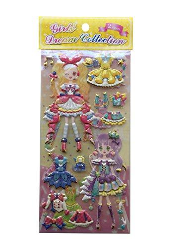 (Dress-up Princess Kawaii Doll Puffy Glitter Stickers Play Set 2-Sheets My Style Mode Collection1 Set per Order (Kawaii Circus))