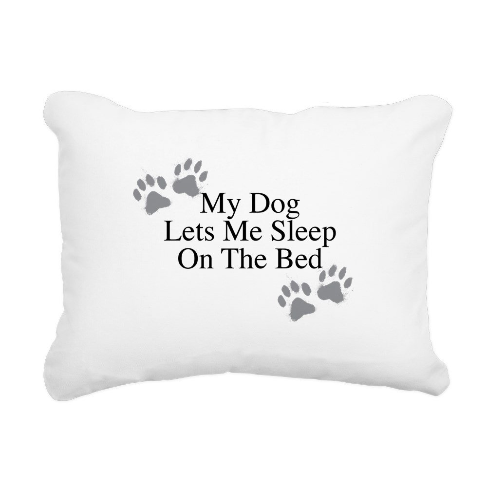 CafePress – 私の犬Lets Me Sleep On The Bed長方形キャンバス – 12