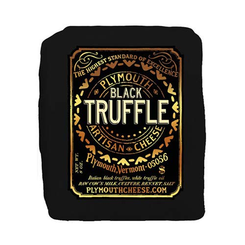 Black Truffle Cheddar by Plymouth Artisan Cheese (8 ounce) made in New England