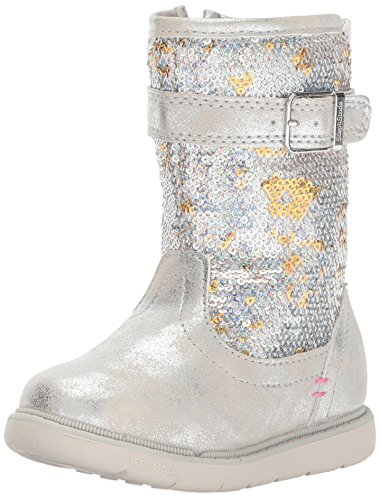 Picture of Step & Stride Girl's Ciara Tall Sequin Boot Fashion, Silver, 11 M US Little Kid