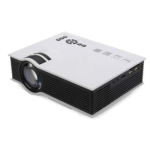 NBKLS Proyector Multimedia, HD 1200 lúmenes Reproductor Multimedia ...