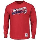 Majestic Washington Nationals AC Red Team Choice Long Sleeve T Shirt