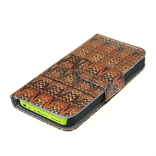 MOONCASE Etui Housse Cuir Portefeuille Case Cover Pour Apple iPhone 5C