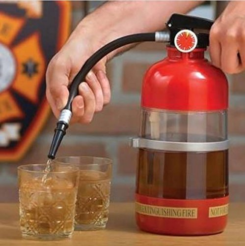 1L Fire Extinguisher Drink Beer Wine Dispenser Pourer Water Beverage Cocktail Pouring Machine by STCorps7