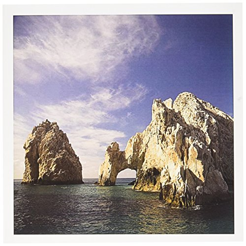 """Price comparison product image 3dRose Lands End, The Arch, Rock Formation, Mexico - Greeting Cards, 6 x 6"""", Set of 12 (gc_86803_2)"""