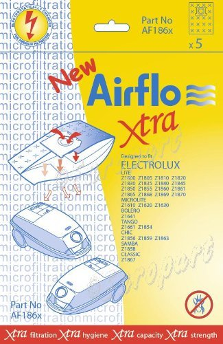 Airflo European Manufactured Airflo AF186X Electrolux Lite Series Sms Bags, Pack of 5