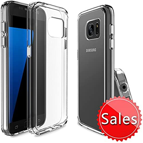 Samsung Galaxy S7 Case, Xoomz Soft TPU Bumper & Solid PC Back Cover Transparent Lightweight Protective with Anti-Scratch Sales
