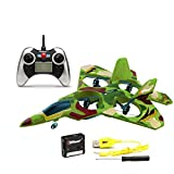 Top Race F22 Fighter Jet 4 Channel Rc Remote Control Quad Copter RTF (Green Camouflage)