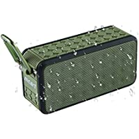 Waterproof Bluetooth Speaker - MCART Portable Wireless Mini Speker With IPX5 Waterproof, Outdoor Sport Stereo Bluetooth Speakers,Hi-Fi Speaker,Built in Mic,2x5W Bass Sound-Green