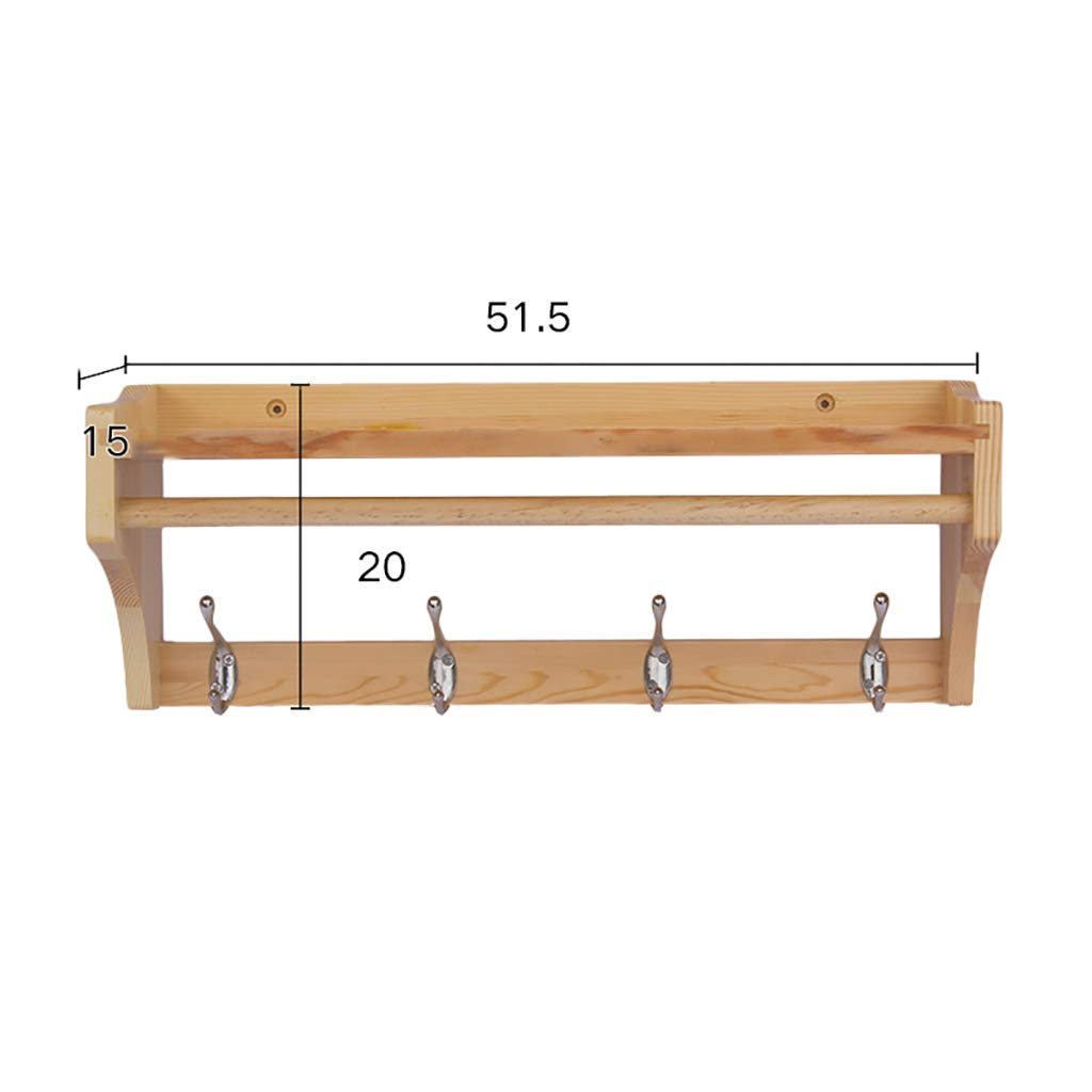 Amazon.com: Coat Racks Coat Rack Creative Solid Wood Wall ...