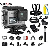 SJCAM SJ6 Kit (Including Extra Battery, 6-in-1 Accessories)SJ6 LEGEND Dual Screen 2″ LCD Touch Screen 2880×2160 Novatek NT96660 Panasonic MN34120PA CMOS 4K Ultra HD Sport DV Action Camera Silver