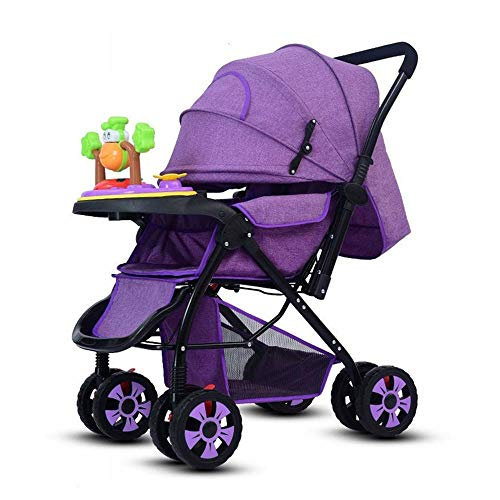 Tawcal Baby Stroller for Newborn and Toddler -Portable Folding Lightweight Baby Stroller- Lightweight with Convertible Bassinet Stroller- Multi-Position Reclining Seat/Extended Canopy