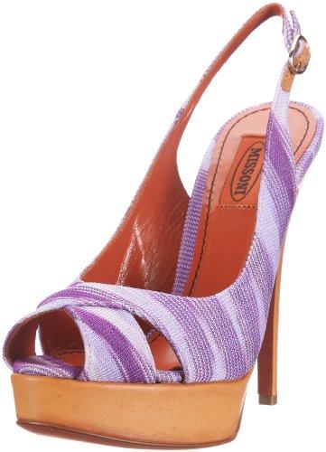 Sandalo viola Incrociato Sandals Violett Missoni T 130 Women's BqTxgwzFAz
