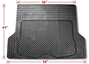 Size 55.5 x 42.5 Large Trimmable FH Group F16400BLACK Black All Season Protection Cargo Mat//Trunk Liner