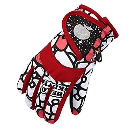Image Unavailable. Image not available for. Color  ENCOCO Winter Children  Kids Boy Girls Snowmobile Warm Waterproof Windproof Skiing Snowboarding  Gloves ... e62cb366b72d