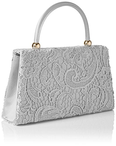 SwankySwans Kendall Lace Smart Elegant, Sacchetto Donna Argento (Argento (Silver))