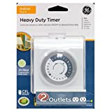 GE 24-Hour Plug-In Heavy Duty Indoor Timer, White, 15075