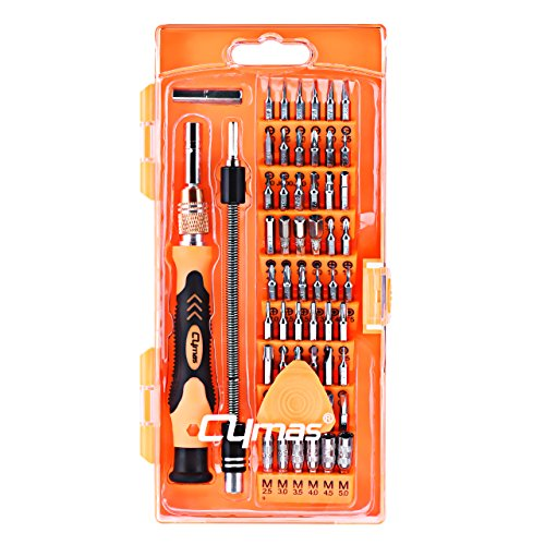 Cymas Precision Screwdriver Set, 58 in 1 with 54 Bits Magnetic Driver Kit,Electronics Repair &Disassemble Tool Kit for PC, iphone 7,iphone 6 and other Smart Phone, Tablet,Game Console , Clock, etc.
