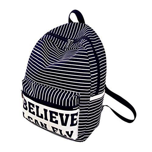 Dos Satchel Rucksack VHVCX Femme Filles Stripe Sac À Dos Feminina Sac À Mode Bookbag Toile Voyage En École Mochila wwqxPICnv