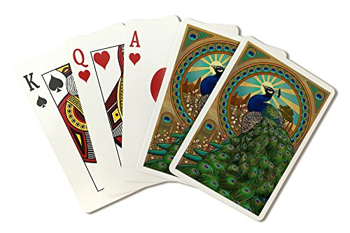 (Peacock - Art Nouveau (Playing Card Deck - 52 Card Poker Size with Jokers))