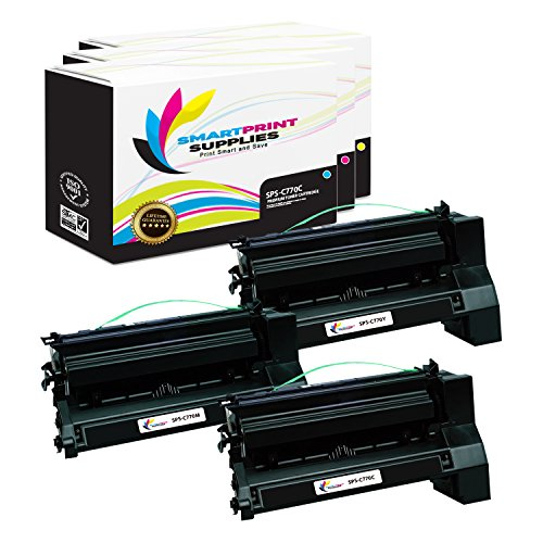 (Smart Print Supplies Compatible C770 C772 Extra High Yield Toner Cartridge Replacement for Lexmark C780 C782 X780 X782 Printers (Cyan, Magenta, Yellow) - 3 Pack)