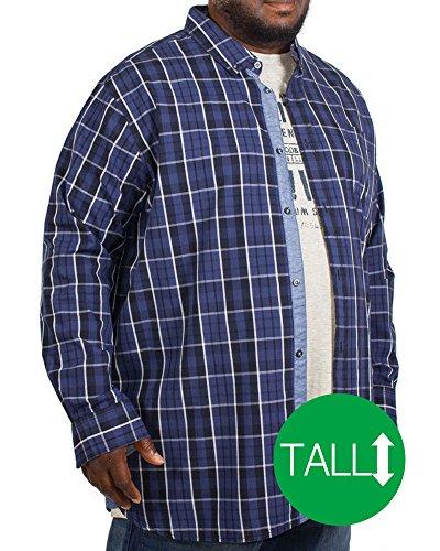 Big Herren D555Warwick Long Sleeve Shirt & T-Shirt Combo blau hoch