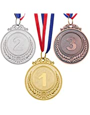TOYANDONA 3 Pcs Metal Winner Gold Silver Bronze Award Medals for Sports, Competitions, Spelling Bees, Party Favors