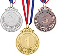 TOYANDONA 3 Pcs Metal Winner Gold Silver Bronze Award Medals for Sports, Competitions, Spelling Bees, Party Fa
