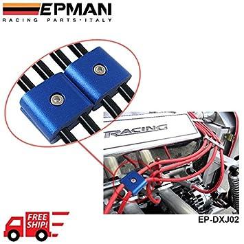 lyj-04804 marca 2 Motor para bujías separador separador abrazadera de alambre para coche/motocicleta bicicleta (por defecto Azul): Amazon.es: Coche y moto