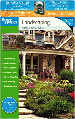 Better Homes and Gardens Landscaping & Deck Designer 8.0 + Bonus Picture Painter Photo Editing Software Bundle