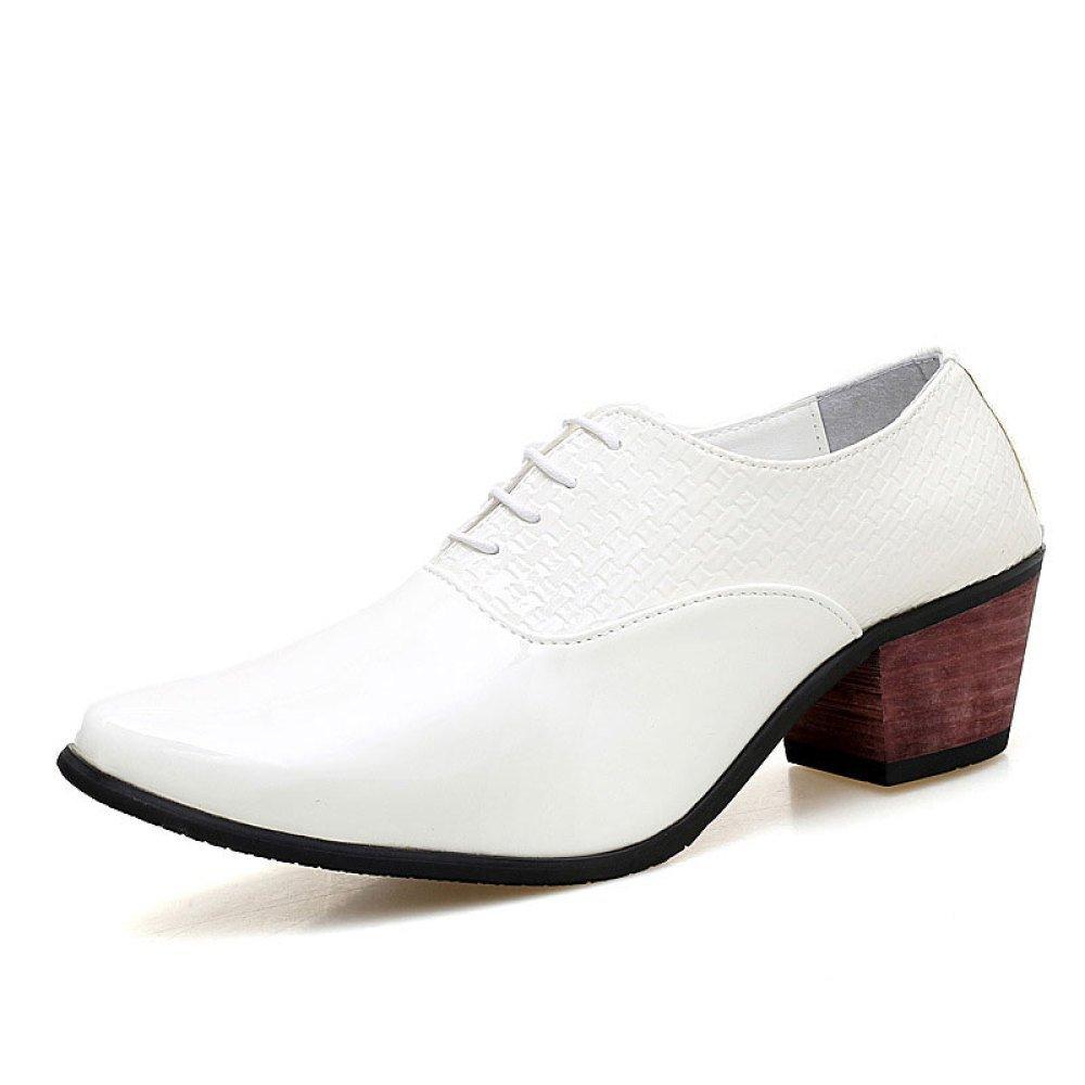 Männer Spitzen Lederschuhe Britischen Stil Mode Lace-up Everyday Weiß